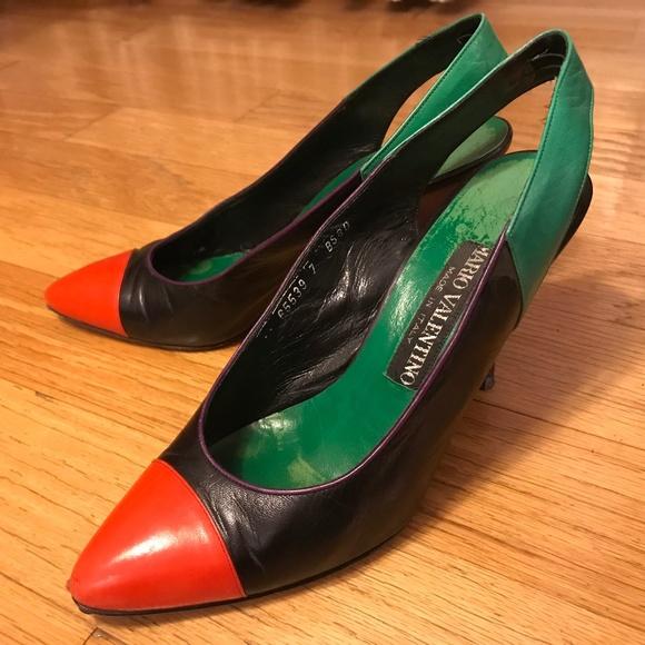 Mario Valentino Colorblocked Shoes Size